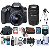 Canon EOS Rebel T6 DSLR Digital Camera with EF-S 18-55mm f/3.5-5.6 IS II and EF 75-300mm F4-5.6 III Lenses, Lexar SD 32GB Memory Card, 58mm UV Filter Kit, Tripod, Corel Software, Deluxe Accessory Kit