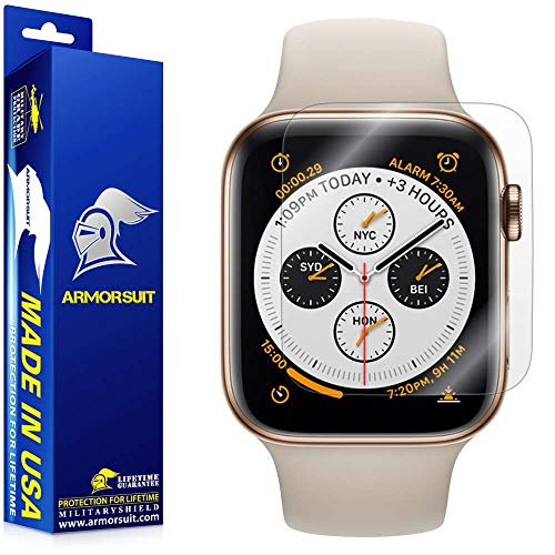 ArmorSuit Apple Watch Series 4 Screen Protector (44mm)(2 Pack) MilitaryShield Full Coverage Screen Protector Compatible with Apple Watch Series 4 (44mm) - HD Clear Anti-Bubble