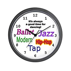 CafePress Dance Styles 1 Wall Clock - Standard Multi-color