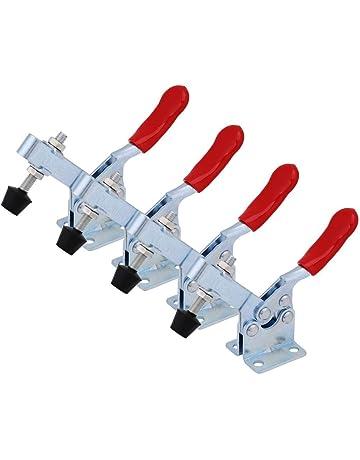 4Pcs Métal horizontale libération rapide Hand Tool Toggle Clamp pour fixation Pièce