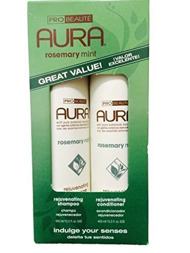 Aura Shampoo & Conditioner Rosemary Mint Rejuvenating 13.5 Oz (Combo Pack)