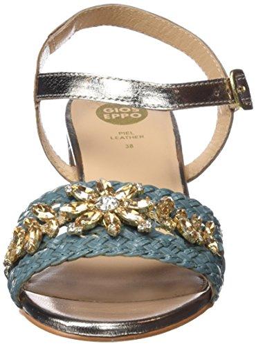 Gioseppo 45344, Escarpins Bout Ouvert Femme Bleu (Blue)