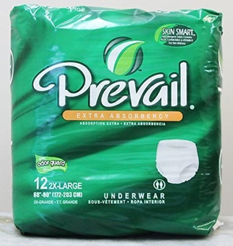 Prevail Protective Underwear XX-Large Pack of 12 Prevail Protective Adult Underwear