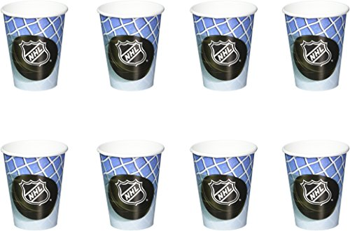 Sports and Tailgating NHL Party Time Paper Cups Tableware, 8 Pieces, Made from Paper, Hockey Themed Party/Sports Themed Party , 9 oz. by Amscan