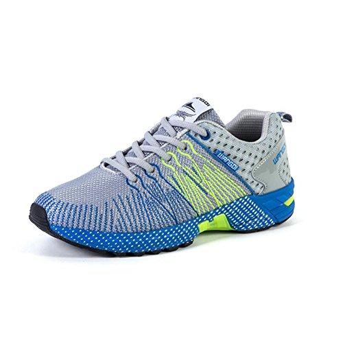 YIXINY Chaussures de sport Ultraléger Chaussures De Maille Chaussures De Course Pour Hommes Exercice Respirant Antidérapant Printemps Et Été ( Couleur : Noir , taille : EU41/UK7.5-8/CN42 ) Bleu
