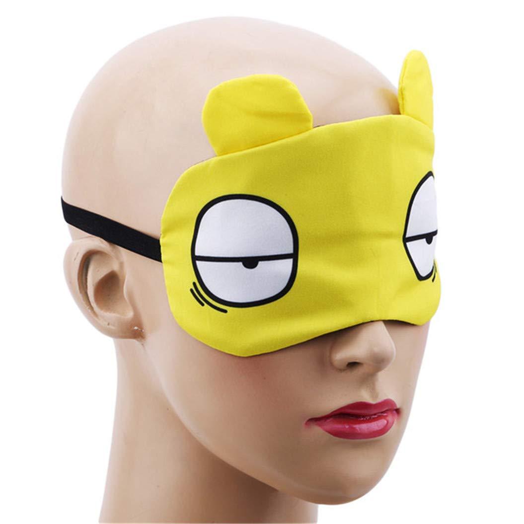 LZIYAN Sleep Masks Cartoon Sleep Eye Mask Soft Cute Eyeshade Eyepatch Travel Sleeping Blindfold Nap Cover,Yellow by LZIYAN (Image #5)