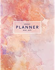 Weekly Planner 2018-2019: Pink Marble 2018-2019 Planner   18-Month Weekly View Planner   To-Do Lists + Motivational Quotes   Jul 18-Dec 19