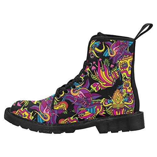 InterestPrint Womens Boots Unique Designed Comfort Lace Up Boots Multi 4 vynXACGI