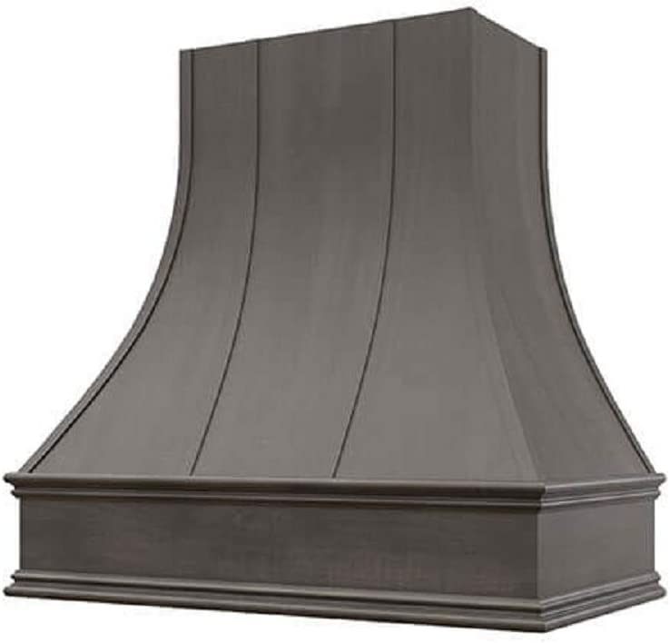 Wholesale Wood Hoods Curved with Strappings Style Hood Wooden Chimney Range Wall Mounted