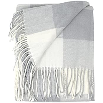 Amazon Good Manors Buffalo Check Plaid Throw Blanket Magnificent Light Gray Throw Blanket