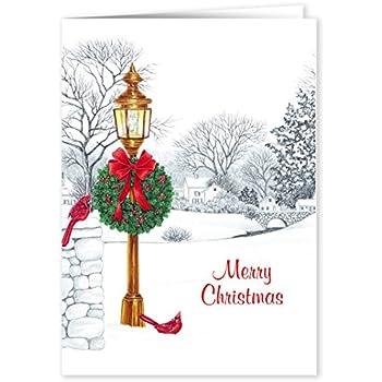 Lamppost Christmas Card Set of 20