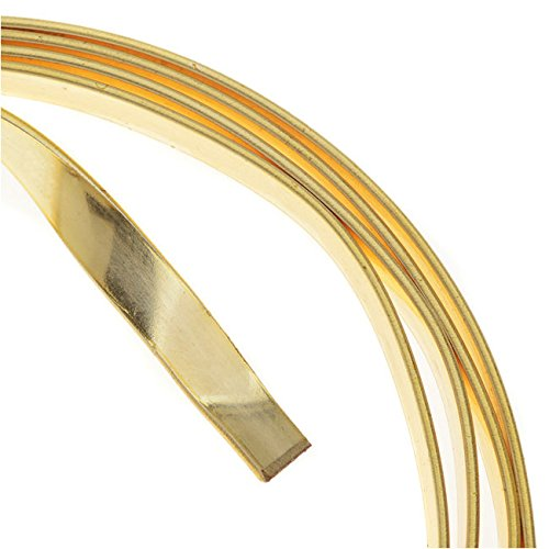 Artistic Wire 21-Gauge Flat 5mm by .75mm, 3-Feet, Gold