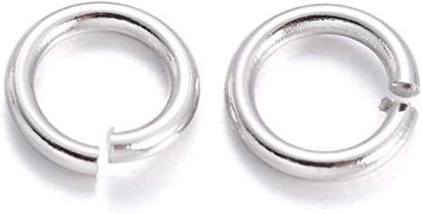 1000 pcs Silver Plated Open JUMP RINGS  6mm   for jewelry /& crafts 21 gauge