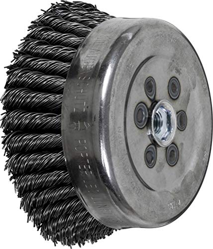 5//8-11 Internal Thread PFERD 82575 Full Cable Twist Knot Cup Brush 1-1//2 Trim Length 0.035 Wire Size Carbon Steel Wire 6 Diameter 6000 rpm 6 Diameter 1-1//2 Trim Length PFERD Inc.
