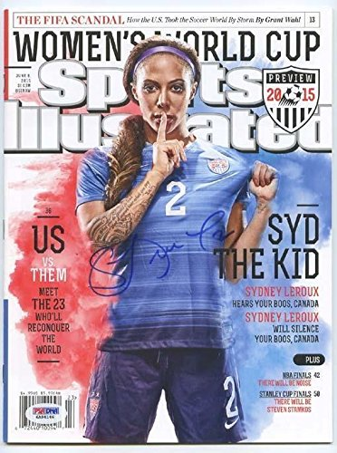 Sydney Leroux Uswnt World Cup Champ Signed Sports Illustrated Magazine Nl - PSA/DNA - Online Shop Sydney