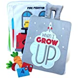 Curious Columbus Quiet Book. When I Grow Up. Fabric Busy Book. Educational Activity Toy for Toddlers, Preschool and Pre-K Early Learning