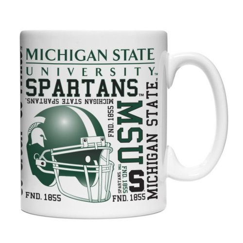 NCAA Michigan State Spartans Spirit Mug, 15-ounce