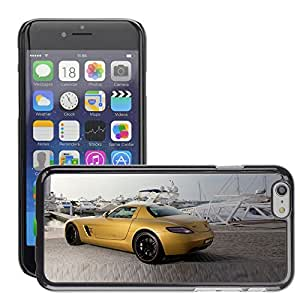 CarCase Slim Case Cover Backcover Frame Shell Apple iPhone 6 - 4.7 inch // 2010 mercedes benz sls amg desert gold 3 //