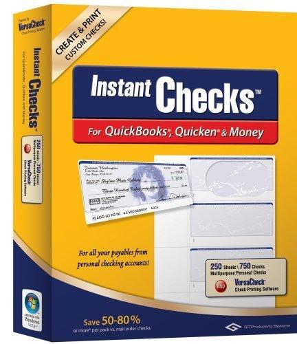 Instant Checks for QuickBooks, Quicken & Money: Form #3001 Personal Wallet - Blue Prestige 250pk by VersaCheck by VersaCheck