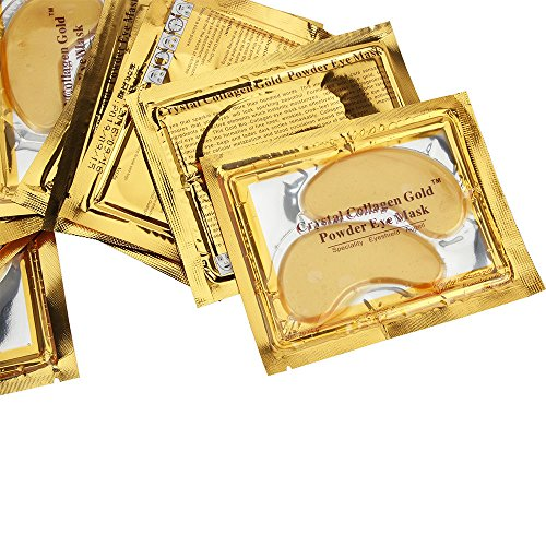 (30pairs Crystal Gold Collagen Under Eye Patches Mask DARK CIRCLES BAGS WRINKLES by iShapify LLC)