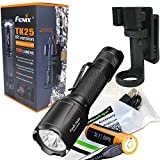Fenix TK25IR 1000 Lumens white / 3000mW Infrared (IR) Dual Beam LED Flashlight (TK25 IR)rechargeable kit w EdisonBright USB cable and belt clip
