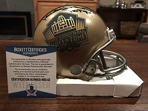 Randy White Autographed Mini Helmet - Gold Hall of Fame HOF 94 Beckett - Beckett Authentication - Autographed NFL Mini Helmets