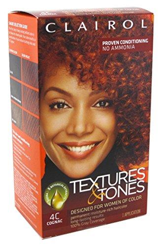 Clairol Textures & Tone Kit #4C Cognac (3 Pack) - 4c Kit