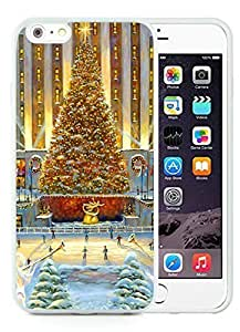 2014 Newest iphone 5c Case,Golden tree Christmas Scene White iphone 5c TPU Case 1