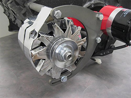 B2 Fabrication Small Block Chevy SBC Engine Mid Mount Alternator Bracket Electric Water Pump