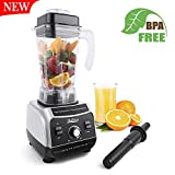 Betitay Professional Commercial Blender 1500W High Speed Electric Mixer Nutrition Food Processors with 2 Litre BPA-Free Pitcher for Ice, Fruits, Vegetables, Smoothies and Soups