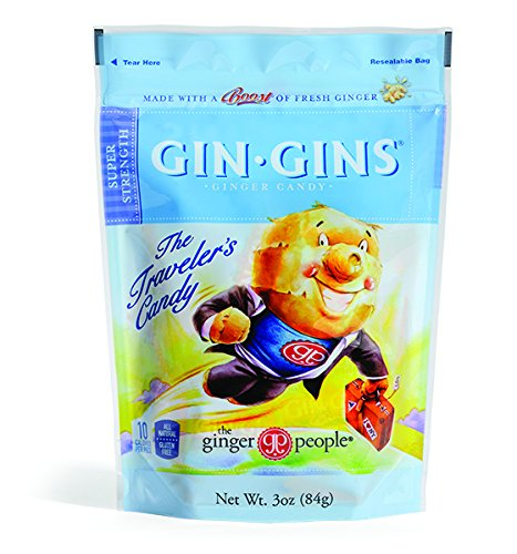 The Ginger People Gin Gins BOOST Ultra Strength Ginger Candy, 3-Ounce Bags (Pack of 24)