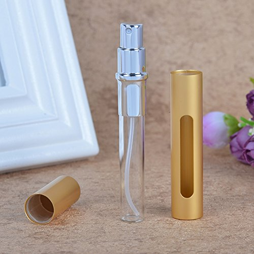 Perfume Spray Bottle Atomizer, Refillable Empty Fine Mist 5ML Mini Spray Bottle for Essential Oils, Travel Perfumes - Refillable Perfume Atomizer Bottle with Pumps, 7 Bottles and 2 Sliver Funnels by MUB (Image #6)