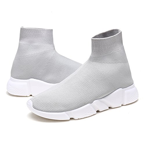DREAM PAIRS New Fashion Womens Lady Easy Walk Slip-On Light Weight Recreational Comfort Loafer Shoes Sneakers 170885-lt.grey vSDdvwu