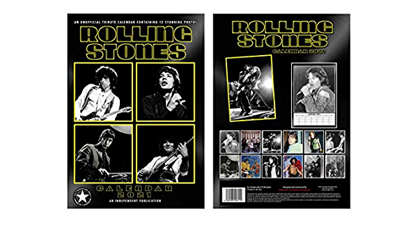 Rolling Stones Calendario 2021 A3 con Rolling Stones Imán de refrigerador