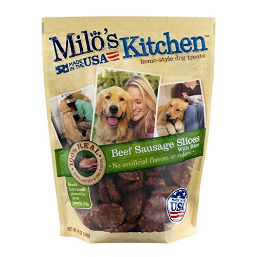Milo S Kitchen Home Style Dog Treats Beef Sausage Slices