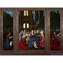 'Netherlandish The Virgin And Child With Saints And Angels In A Garden ' Oil Painting, 20 X 26 Inch / 51 X 67 Cm ,printed On Polyster Canvas ,this Amazing Art Decorative Canvas Prints Is Perfectly Suitalbe For Garage Artwork And Home Artwork And Gifts