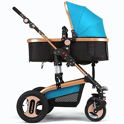 H&Z Luxury Newborn Baby Foldable Anti-shock High View Carriage Infant Stroller Pushchair Pram