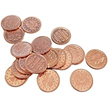 """Standard 0.900"""" in Diameter Eagle Design Arcade / Prize Metal Copper Color Tokens by MT Products - (Pack of 50 Tokens)"""