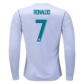 info for ded70 e8f8d 2018 La Liga Cristiano Ronaldo Real Madrid Long Sleeve Home ...