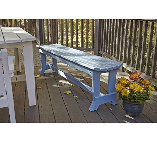 (Uwharrie Chair Co C099-20-Lime-Dist-Pine Carolina Preserves 4-Seat Bench Without Back, Lime-Distressed)