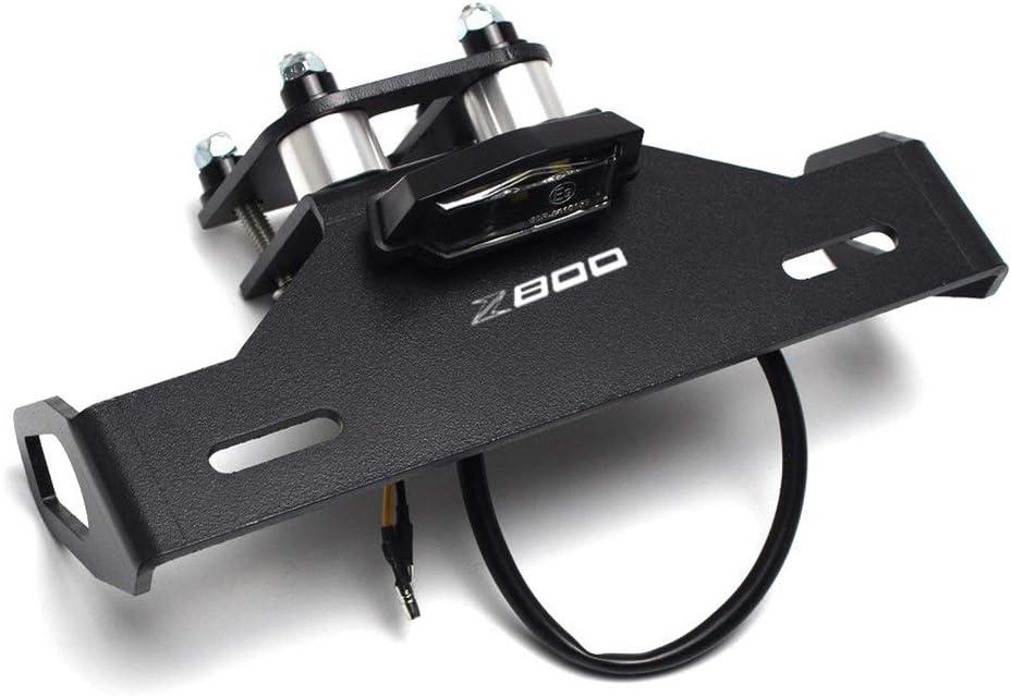 NLJYSH Dauerhaft Kennzeichenhalter LED-Licht Kennzeichenhalter Fender Eliminator for Kawasaki Z800 Z 800 2013-2016 2014 2015 Motorradzubeh/ör Einfach und gro/ßz/ügig Color : Black