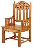 Gothic Celebrant Chair.Eastern Maple.23'' W x 48'' H x 20'' D