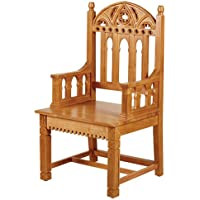 Gothic Celebrant Chair.Eastern Maple.23 W x 48 H x 20 D