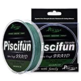 Piscifun PE Braided Fishing Line 547Yd Green 65lb Test