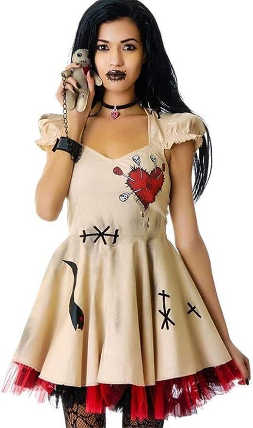 CHNWSJ Traje for Ghost Boda de Halloween Trajes de Novia Voodoo ...
