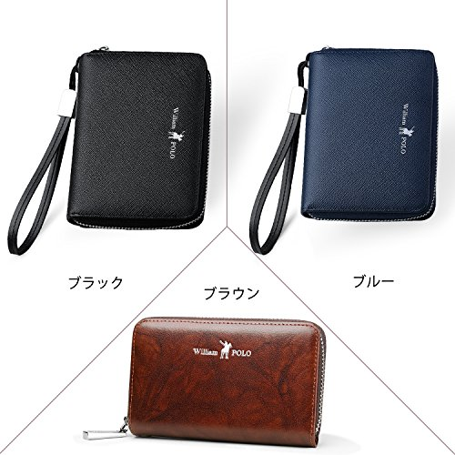 fb4338afe88d WILLIAMPOLO 財布 本革 薄型 メンズ レディース 多機能 カード入れ ブランド 大容量 収納便利