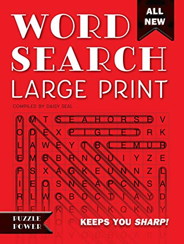 Word Search Large Print (Red): Word Play Twists and Challenges (Puzzle - Daisy Seals