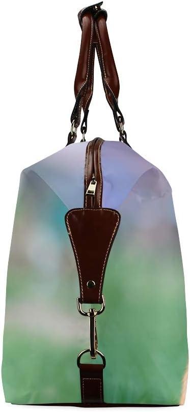 Casual Woman Bag Cat Smell Of Beautiful Flower Classic Oversized Waterproof Pu Leather Large Weekender Bag Girls Handbags