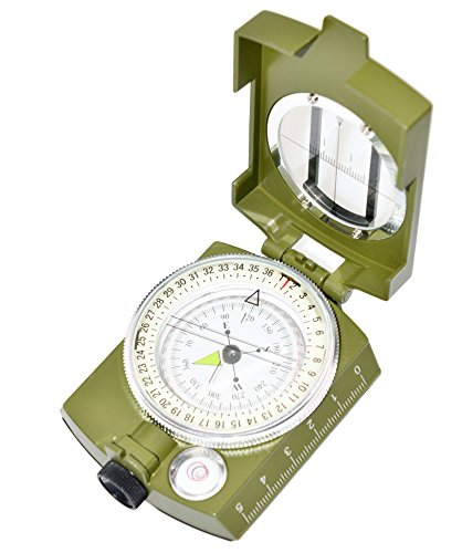 Professional Multifunction Metal Military Compass by Ninjetics – Highly Accurate, Waterproof with Luminous Display
