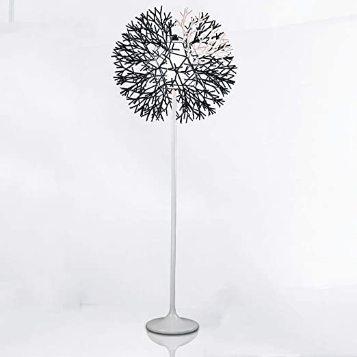 Nordic - Lámpara de pie para salón o dormitorio, diseño con texto ...